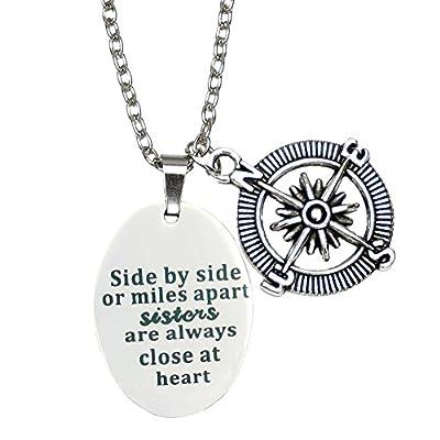 O.RIYA Best Friends Necklace / Bracelet ,Side By Side Or Miles Apart - Best Friends Bracelets - Long Distance Friendship Gifts