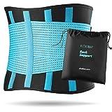 Vitalbak Faja Lumbar Hombre y Mujer - Alivia el Dolor y Las Lesiones en Cintura y Espalda - Cinturón Lumbar con Doble Ajuste - Gratis Bolsa de Transporte