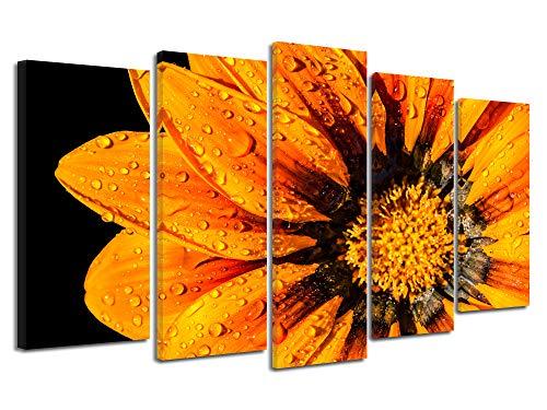 Declina wandafbeelding, wandafbeelding, wandafbeelding, groot formaat bloemen, oranje, 150 x 80 cm 220x120 cm Oranje