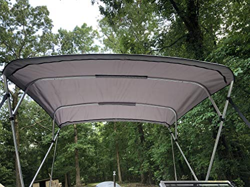 Replacement Bimini Top Canvas with Boot, Grey, 10' Long x 8' Wide, 16oz, by Cypress Rowe Outfitters