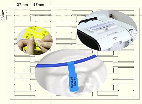 Onirii 10 Sheets 300 Labels Assorted Colors A4 Size Waterproof Tear Resistant Durable Self-Adhesive Cable Label Photo #4