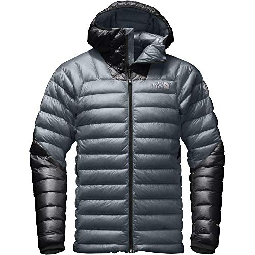The North Face Men's Summit L3 Down Hoodie Light Puffer Jacket (Turbulence Grey/TNF Black, XL)