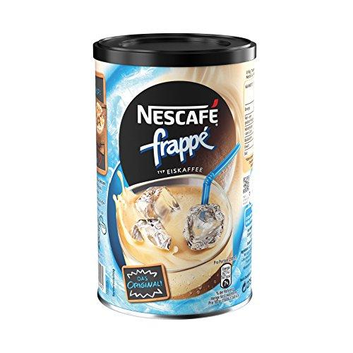 Nescafé frappé Typ Eiskaffee Getränkepulver (mit löslichem Bohnenkaffee, zarte Mokka-Note, koffeinhaltig, ideal im Sommer) 1 Dose (1 x 275g)