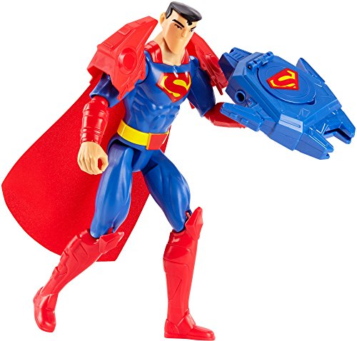 Mattel FBR09 - DC Justice League Deluxe Super-Blaster Superman, 30 cm mit Zubehör