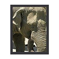 INOV 象 絵画 インテリア フレーム装飾画 アートポスター 額入り(30cm*40cm) 壁画 アートパネル 油絵 壁飾り 壁掛け 木枠付き