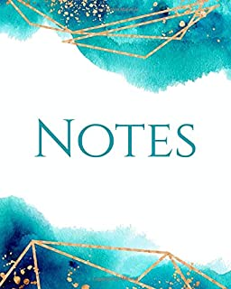 NOTES: Seafoam Watercolor Luxe Notebook - Diary - Journal (Lined)