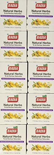 Badia Natural Herb Tea Bag, 10-Count Boxes (Pack of 20)