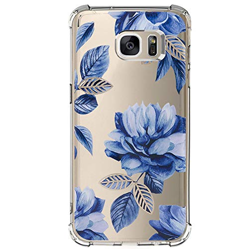 Samsung Galaxy S6 Edge Case with Flowers, IESSVI Floral Pattern case for S6 Edge (9)