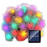 Calentar 7M 50 luces solares de la cadena luces Chuzzle bolas Luz de Navidad decorativos for al aire libre casera del partido de jardín del patio de césped y Decoración de vacaciones (Multi-Color) Del