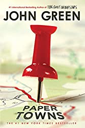 book cover of Paper Towns - books set in Florida