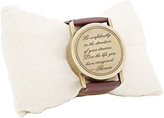 Roorkee Instruments India Gifts Ideas for Men Wrist Watch Sundial Cuff with Thoreau's Go Confidently Quote