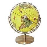 Lkk-kk Inicio Globo de la Tierra del Planeta Bola giratoria de Mesa Globe 25 Cm Decoración Enseñanza Antiguo Decorativo de Escritorio