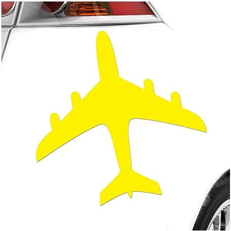 Flugzeug 11 X 11 Cm In 15 Farben Neon Chrom Sticker Aufkleber Auto