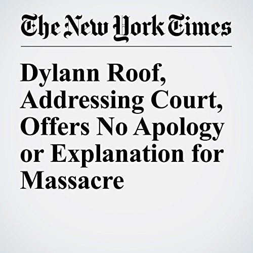Dylann Roof, Addressing Court, Offers No Apology or Explanation for Massacre copertina