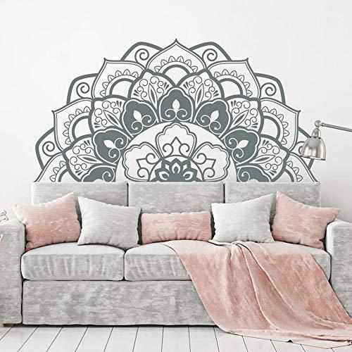 Calcomanías de pared de mandala de moda para decoración del hogar, decoración bohemia para dormitorio, yoga, estudio, A3, 57 x 114 cm