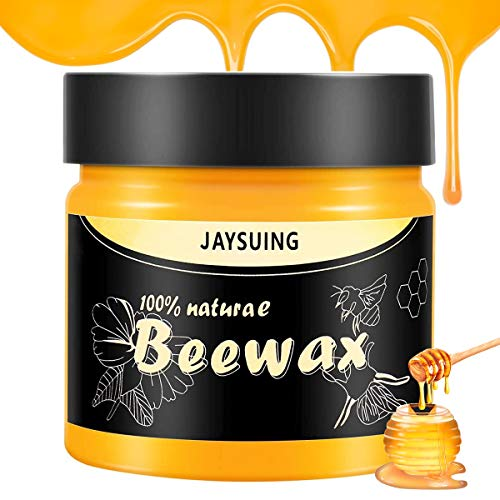 Wood Seasoning Beewax, 2020 New Multipurpose Natural Wood Wax Traditional Beeswax Polish Resistant Beewax Wax Conditioner Protector Cleaner for Furniture, Floor, Tables, Chairs, Cabinets