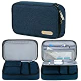 Insulin Travel Case, Simboom Diabetic Supplies Organizer Bag with Hand Strap for Insulin Pens, Glucose Meter and Diabetic Supplies(Bag Only) - Blue