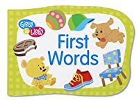 C.R. Gibson Gibby and Libby Die-Cut Board Book, First Words by C.R. Gibson