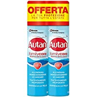 Autan Family Care Spray Bipacco, insecto repelente y antimosquitos tigre y común, 2 paquetes de 100 ml