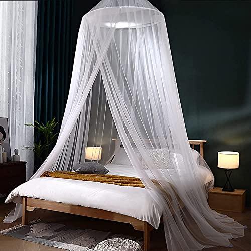 Moustiquaire de lit, Grand Moustiquaire pour lit, Moustiquaire Ciels De Lit pour Lit Simple King Size Ou Double, Moustiquaire De Lit Ciel De Lit Adapté à La Protection Contre Les Insectes (XL)