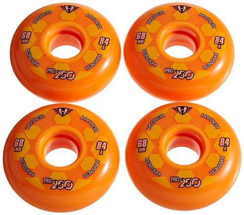 Hyper Rollen für Inlineskates Pro 250, Orange, 68, 72500