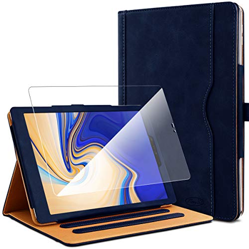 KARYLAX Pack of Blue Protective Case + 1 Tempered Glass Screen Protector for Samsung Galaxy Tab S4 10.5 SM-T830