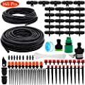 PETUOL Drip Irrigation Kits, 100ft/30M Father Day Garden Plant Watering Sprinkler System with Distribution Tubing Hose Adjustable Nozzles, Automatic Mist Cooling Irrigation Set for Garden Lawn, Patio