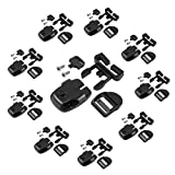 Ponwec 10 Set Hot Tub Cover Clips Replacement Kit,Hot Tub Latch Accessories with ABS Plastic Spa Latches,Ladder Buckles,Keys&304 Stainless Steel Self Tapping Screws