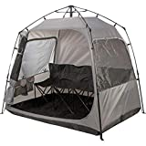 All Weather Pod Sports Tent - Largest Sports Pod Pop Up Tent for Up to 4 People - Pop Up Pod for Rain Wind Cold Bug - Bubble Tent with Clear and Mesh Windows - Soccer Football Baseball Softball Pods