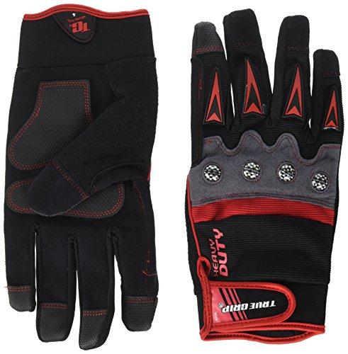 True Grip 9894–23 XL Heavy Duty Gants de travail avec écran tactile doigts – Noir/Rouge