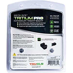 TRUGLO Tritium Pro Glock MOS Low Set Night Sight, Black, One Size (TG231G1MW)