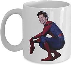 Coffee Mug 11 Oz White Ceramic Funny Gift Tom Holland Peter Parker Spiderman Homecoming Merchandise Accessories Shirt Sticker Decal Artwork Decor