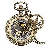 Vintage Bronce Naruto Fullmetal Luffy Fasmous Juegos Collar de Cuarzo Colgante Reloj de Bolsillo Cadena Regalos de Lujo para Hombres Mujeres Niños Reloj con Accesorio
