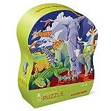 Crocodile Creek - Wild Safari - 72Piece Jigsaw Puzzle for Kids Ages 6 & Up, Multicolor