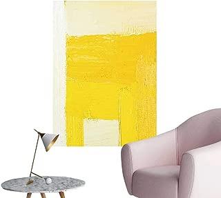 SeptSonne Wall Decoration Wall Stickers Wallpaper Texture backgroun n Original Oil White Yellow Print Artwork,16