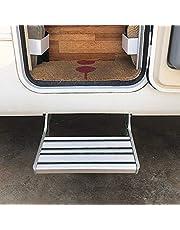 CHHMAELOVE Plegado Se Produce El Embarque De Escalera Pases Caravana Autocaravana,EscalóN Accesorio para Caravana Aluminio,EscalóN Plegable para Caravana (hasta 200 Kg)