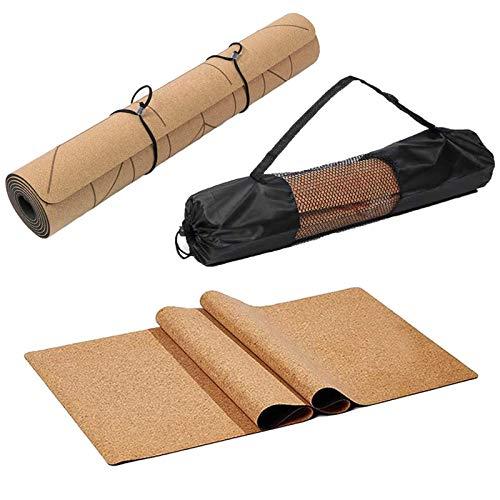 Cómodo de usar Estera de yoga, tapetes naturales de yoga, tapete de yoga, tapete de ejercicio de pilates antideslizantes para gimnasio ejercicio ejercicio de pérdida de peso. Adecuado para uso domésti