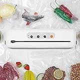 YLEI Portatile Macchina Sottovuoto per Alimenti, aspirazione e sigillatura Automatica Sigillatore sottovuoto, per Carne, Uova, Verdura e Frutta, Bianco (382 * 104 * 62mm)