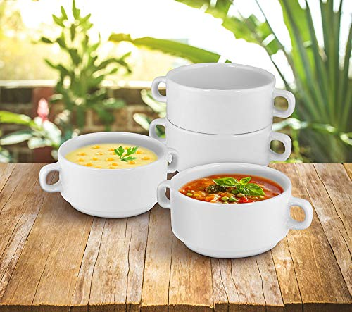 KOVOT Set of 4 Porcelain Stackable 20-Ounce Bowls (4 Bowls)
