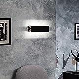 LEDKIA LIGHTING Aplique LED Temis 10W Negro Blanco Cálido 2800K - 3200K