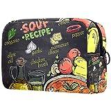 borse da toilette,progettazione della lavagna del menu di ricetta della zuppa di pomodoro ,make up borse da viaggio,beauty case da viaggio,cosmetici trucco pochette da toilette organizer