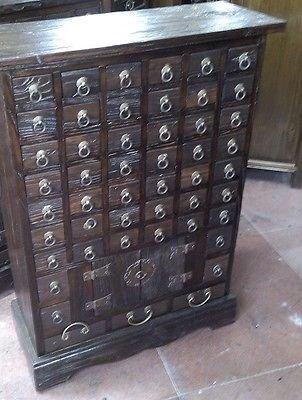 Antiker Apothekerschrank Apotheke Schrank Sideboard Kommode Kommodenschrank Sideboardschrank Breite68xHöhe91cm