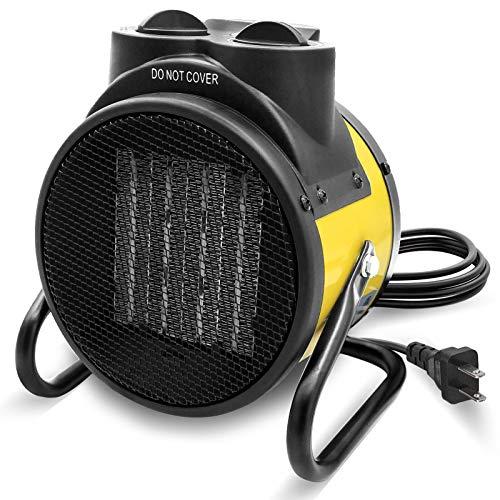Buyplus Portable Patio Heater Outdoor - Electric Fan Heaters, Super Long Cord, PTC Fast Heating,...