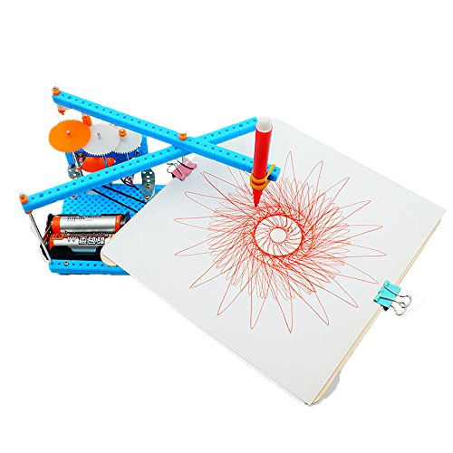 JEYKAY DIY Electric Plotter Drawing Robot Kit Physics Scientific Experiment Set (X)