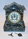 アンティーク 精工舎 置時計 青色大理石 明治時代