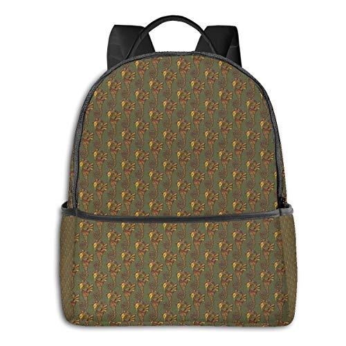 Schulrucksack Schultaschen Mädchen Teenager Rucksack Schultasche Schulrucksäcke wasserdichte Backpack für Damen Herren Geeignet 14 Zoll Notebook Seepferdchen 24