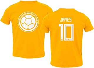 National Soccer 2019 Colombia #10 James Rodriguez Copa America Toddler T-Shirt