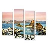 bilderfelix® Bild auf Leinwand Sonnenuntergang über Rio