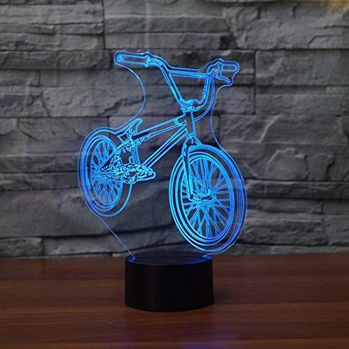 Mountainbike lamp LED 3D Night Light Kleurrijke stemmingsbesturing Vision stereo lamp acryl 3D als leuk geschenk