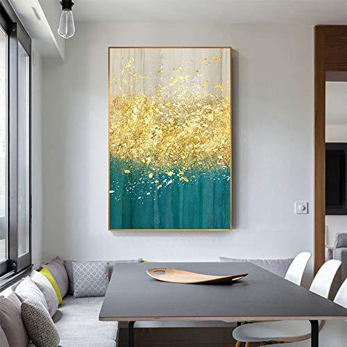 ganlanshu Nordische einfache abstrakte Malerei Wandbild Wohnzimmer Wohnkultur Malerei Kunst,Rahmenlose Malerei,40X60cm